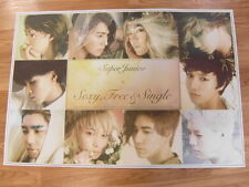 SUPER JUNIOR - 6TH SEXY,FREE & SINGLE [ORIGINAL POSTER] *NEW* K-POP