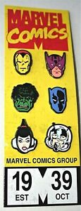 2019 NYCC Marvel Comics Avengers Exclusive Collector 6 Pin Set #3 New MOC