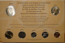 Canada 1608-2008 RCM official 400th Quebec toonie holder medal 7 coin set
