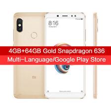 """4+64GO Xiaomi Redmi Note 5 MIUI 9 5.99"""" Snapdragon 636 13.0MP 4G Téléphones EU"""