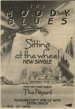 1/10/83PN42 ADVERT: THE MOODY BLUES SINGLE SITTING AT THE WHEEL 10X7