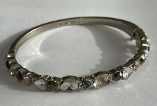 missing Silver tone W/safety Clasp Givenchy rhinestone Bracelet 2 stones