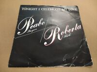 "PEABO BRYSON / ROBERT FLACK "" TONIGHT I CELEBRATE MY LOVE "" 7"" SINGLE EX/VG-"