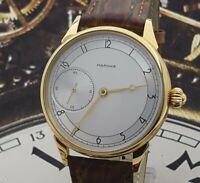 Marriage WristWatch Silver dial Dress Men's mechanism ChChZ USSR Vintage Style