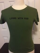 Neil Young Living With War Concert T Shirt Women's Small S New Ultra Rare