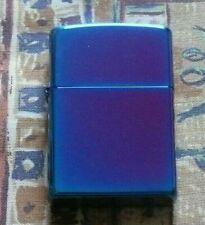 More details for plain regular high polished indigo zippo lighter free p&p free flints