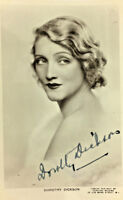 DOROTHY DICKSON ACTRESS SIGNED REAL PHOTO POSTCARD RPPC UNPOSTED