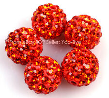 10mm Sparkle Clay Rhinestone CZ Crystal Pave Disco Ball Beads 10 Pcs Wholesale