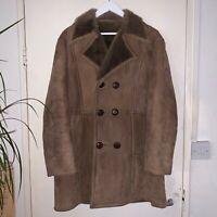 Women's Leroy Furs Vintage Genuine Sheepskin Jacket Brown Size Large (see desc.)