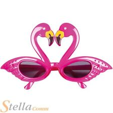 Pink Flamingo Glasses Hawaiian Beach Tropical Fancy Dress Party Specs