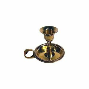 Chamberstick Candle Holder Brass with Finger Loop