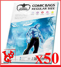 Pochettes Protection REGULAR Size comics VO x 50 Marvel Ultimate Guard # NEUF #
