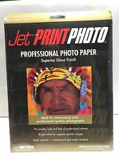 Jet Print Photo Professional Photo Paper. Superior Gloss. New Sealed! 02728-0