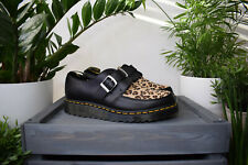 Dr MARTENS RAMSEY MONK Black Leopard Smooth Hair On Shoes UK 9 10 EU 43 44 RARE