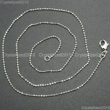 """Shining 18K Silver Gold Plated Round Ball Necklace Chain With Lobster Clasp 17"""""""