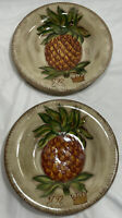 (Set of 2) Tabletops Unlimited Tropical Pineapple Round Dinner Plate(s) - 11""
