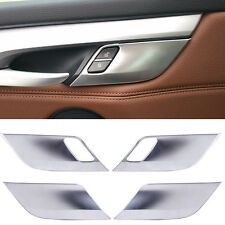 4 x Chrome Inner Door Handle Cover Trim Fit for BMW X5 X6 F15 F16 2014-2016