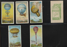 Balloons 5 early air balloons tobacco cards Odens Kell0510