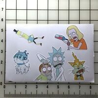 """Rick and Morty 5"""" x 8""""  Vinyl Decal Sticker Set"""
