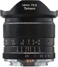 7artisans 12mm f/2.8 Manual Fixed Lens for Fujifilm X Mount Cameras (Black)