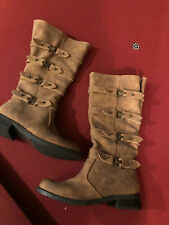 2LipsToo Brown Buckle Boots 5 1/2