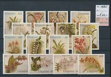 LM39724 Guyana 1985 flowers nature fine lot MNH cv 22 EUR