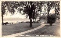 C92/ Redwing Minnesota Mn Real Photo RPPC Postcard 1930 Levee Park Scene