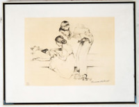 """NORMAN ROCKWELL """"SAFE AND SOUND"""" LITHOGRAPH Hand Signed and Numbered with COA"""