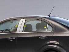 Fits Chevy Sonic Sedan 2013-2018 QAA Stainless Chrome Polished Pillar Posts 6PCS