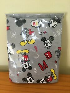New Disney store Mickey Mouse Pajama PAL Set Gray and Black 5,6,7,10