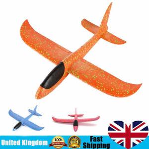 2x DIY Kids Toys Hand Throw Flying Planes Foam Airplane Glider Toy Plane Model