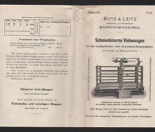 MANNHEIM-RHEINAU, Werbung 1917 für Schmiedeiserne Vieh-Waagen, Butz & Leitz