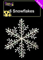 Pack of 6 - 20cm Snowflakes - Snowflake Decorations - For Frozen Themed Parties