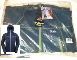 Rab Jacket Mens Shadow Hoodie, UK Medium, Colour Marin,Polartec Wind Pro Fleece