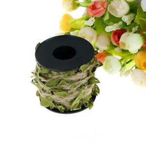 1pc Natural Hessian Jute Twine Rope Burlap Ribbon DIY Craft Vintage Decorat^qi