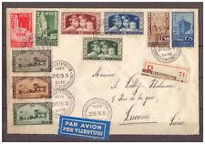 Belgien, Einschreiben MiNr. 378 - 381, 396 - 398, 402 - 404 SSt Brüssel 1935