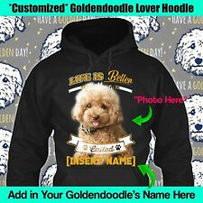 Personalized Goldendoodle Golden Dog Hoodie Life Better Custom Mom Dad Kid Gift