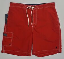 Men's POLO RALPH LAUREN Red Swimsuit Trunks Medium M NWT NEW Nice! 4177635