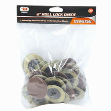 "120 Grit 2"" Sanding Discs Wheels 50-PC. And 1/4"" Mandrel Roll Lock Roloc™ Style"