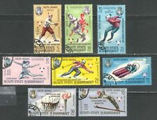 GRENOBLE WINTER OLYMPIC GAMES ON ADEN - QUAITI STATE 1967 Mi 123A-130A V.F. Used