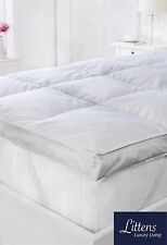 "2"" Double Bed Size Goose Feather & Down Mattress Topper 15 Down 100 Cotton"