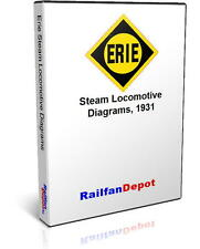Erie Railroad Steam Locomotive Diagrams - PDF on CD - RailfanDepot