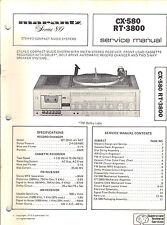 Marantz Service Manual Model CX-580 RT-3800 stereo record player Original Repair