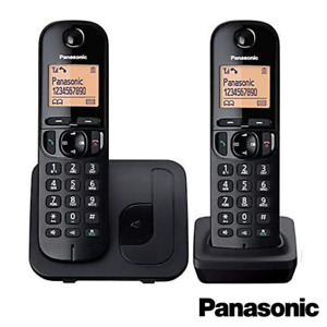 PANASONIC TGC212 TWIN CORDLESS DECT PHONE WITH CALL BLOCK IN BLACK KX-TGC212EB