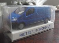 Rietze HO 1/87 Blue Opel Vivaro Delivery Van NIP