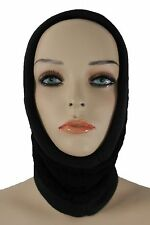 New Women Scarf Turtle Neck Warmer Head Cover Outdoor Face Mask Hat Sport Black