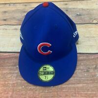 New Era Chicago Cubs GAME 59Fifty Fitted Hat (Royal Blue) MLB Cap 7 1/8 new NWT