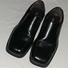 Axcess Mens A Claiborne Company Slip On Vernon Black Leather Shoes US 13 Medium