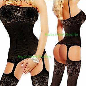 Sexy Lingerie Bodystocking Stockings Babydoll Sleepwear Nightwear Lace Bodysuit