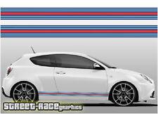 Alfa Romeo Martini racing stripes 001 vinyl graphics stickers Giulietta Mito